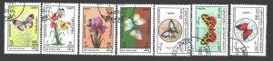 Afghanistan. 1987. 1546-52. Butterflies. USED.