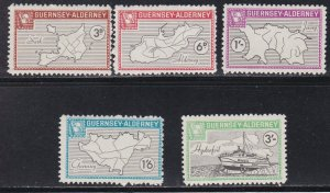 Guernsey -Alderney, Local Issues -Maps & Ship, NH