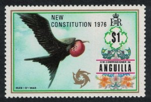 Anguilla Magnificent Frigate Bird 'Man-of-War' 1v $1 Overprint 'Constitution'