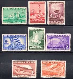 1933 Cuba Stamps Maximo Gomez Birth Centenary Complete Set  NEW
