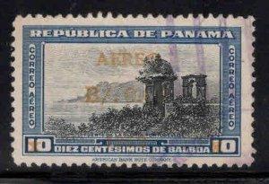 Panama  Scott C128 Used 1953 Airmail surcharge stamp