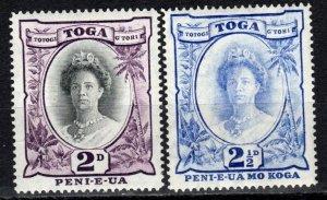 Tonga #56A, 58 F-VF Unused  CV $11.00 (X995)