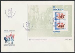 Portuguese-Azores stamp Europa CEPT, Folklore block on FDC 1981 Cover WS185896