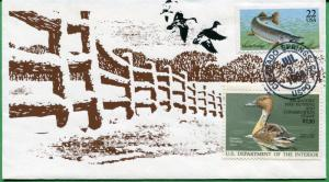 US #RW53 Hand Painted Duck First Day Cover 07/01/86 - George Mychaskiw - S8153