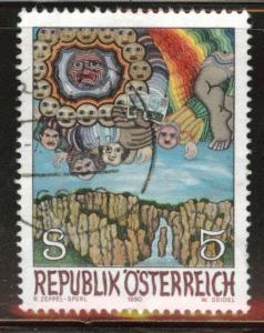 Austria Osterreich Scott 1515 Used 1990 stamp