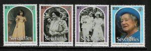 Seychelles #815-8 MNH Set - Queen Mother's 100th Birthday