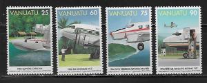 Vanuatu 641-4 1994 50th ICAO set MNH