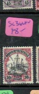 GERMAN EAST AFRICA  (P3006B)  BOAT  30 H    SC 36     VFU