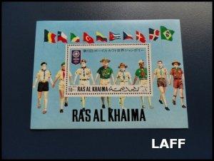 Ras al Khaima - Scouts - Mini Sheet MNH