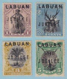LABUAN 66 - 69  MINT HINGED OG * MINOR FAULTS $200 CAT VALUE - VERY FINE! - W194