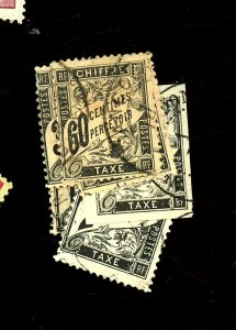 France #J11-14,16,22 Used Ave-Fine Couple Small Faults Cat$148