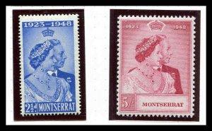 Montserrat 106 - 107 Silver Wedding MNH  Mint Never Hinged