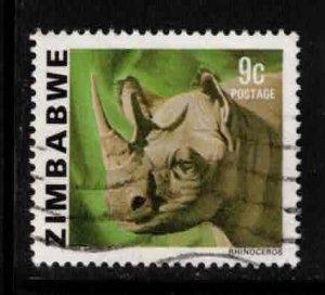 ZIMBABWE Scott # 419 Used - Black Rhinoceros