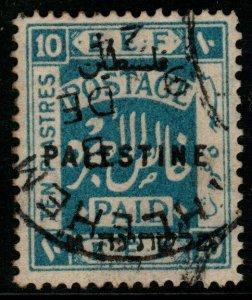 PALESTINE SG69 1922 10p ULTRAMARINE FINE USED