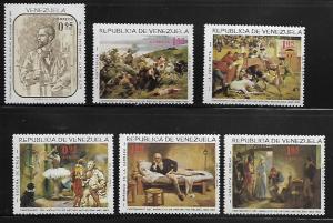 VENEZUELA 899-901, C927-C929 MNH ARTURO MICHELENA SET 1966