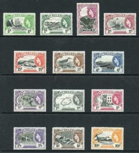 St Helena SG153/65 1953 Set of 13 M/Mint (hinge remainders)