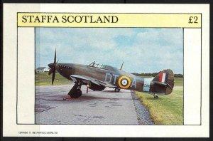 {ST127} Staffa Scotland Aviation Airplanes (3) S/S 2£ MNH Local Cinderella !!