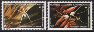 New Caledonia 502-503 Flowers MNH VF