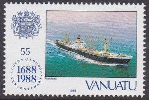 Vanuatu #486 single F-VF Mint NH ** Cargo Ship