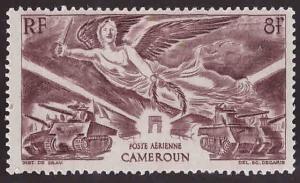 Cameroun Scott C8 MH*Victory airmail stamp