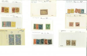 Venezuela Mint & Used on 102 Cards & in Glassines from #2/C1019a.