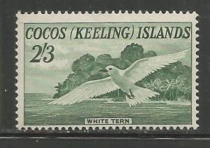 COCOS ISLANDS, 6, MNH, WHITE DOVE