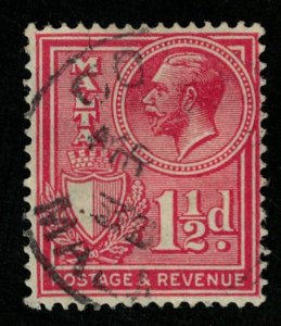 Malta, 1 1/2 d, 1928, POSTAGE AND REVENUE (T-5988)