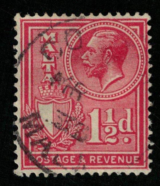 Malta, 1 1/2 d, 1928, POSTAGE AND REVENUE (T-5988)