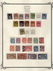 FRANCE OFFICES IN EGYPT COLLECTION MANY MINT SCOTT OVER $400.00