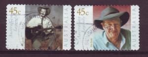 J12788 JLstamps 2001 australia set of 2 used #1935-6 legends