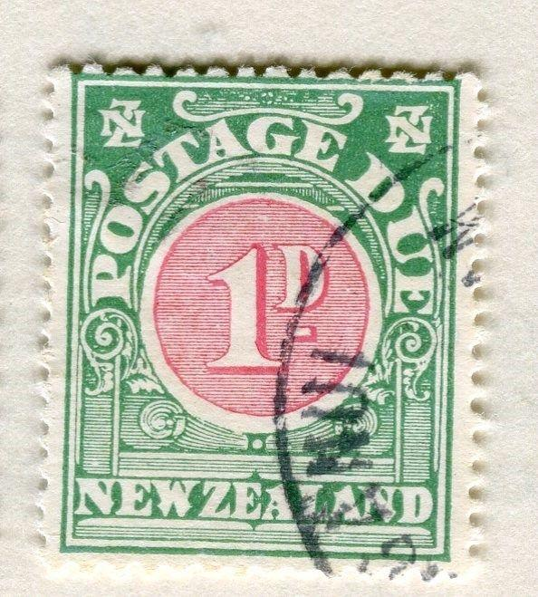 NEW ZEALAND;  1920s early Postage Due issue fine used 1d. value
