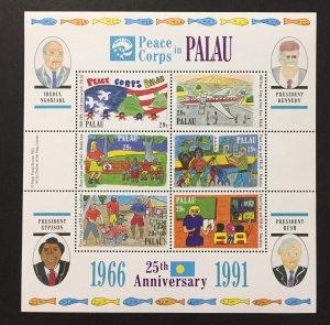 Palau 1991 #297 S/S, Peace Corp in Palau, MNH.