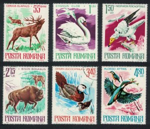Romania Swan Vulture Duck Kingfisher Birds Protected Animals 6v SG#4284-4289