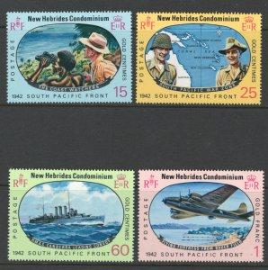British New Hebrides 1967 South Pacific Campaign Scott # 123 - 126 MH