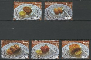 Bosnia and Herzegovina 2018 Food Dessert 5 MNH stamps