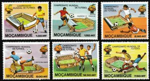 1981 Mozambique 788-793 1982 FIFA World Cup in Spain