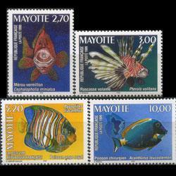 MAYOTTE 1999 - Scott# 121-4 Fish Set of 4 NH