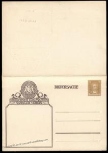Germany Munich Ganzsachen Club Private Postal Reply Card Pair Cover 68580