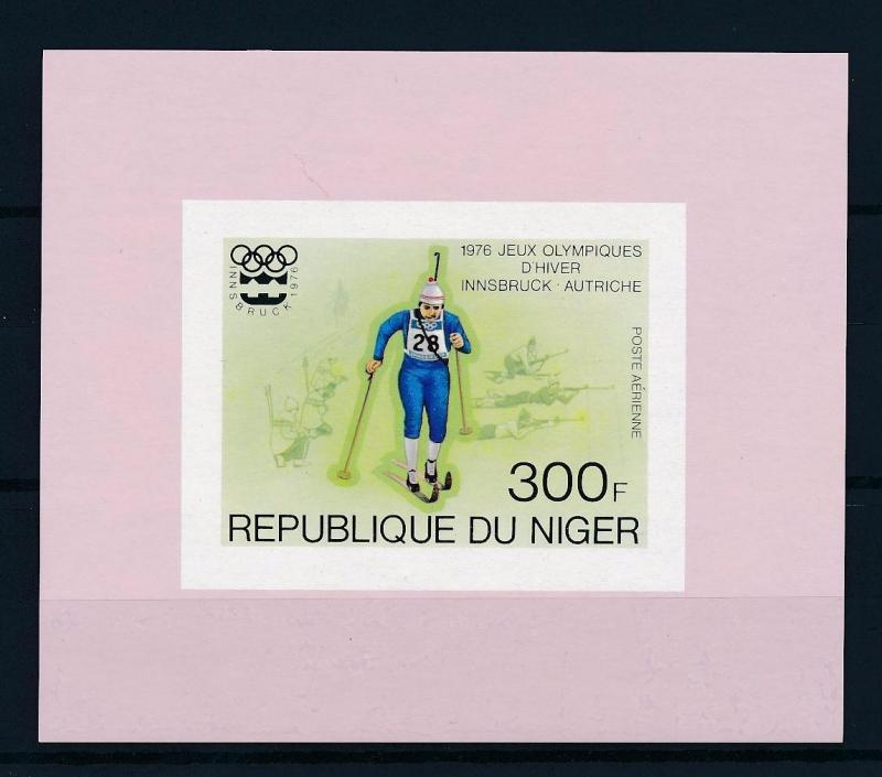[55744] Niger 1976 Olympic games Innsbruck Cross country Skiing MNH Sheet