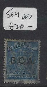 BRITISH CENTRAL AFRICA  (P0403B)  ARMS  6D  SG 4     VFU