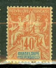 Guadeloupe 40 mint CV $24