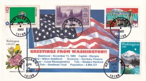 2002, Greeting From Washington Cover, Unknown Artist, (E12247)