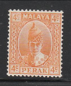 Malaya Perak 1938 Sc 86 Sultan Iskandar 4c orange MH