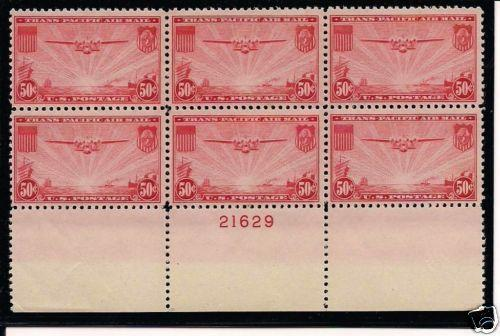 C22 PB 1937 50 CENT TRANSPACIFIC AIRMAIL VF XF NH HipStamp
