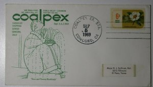 COALPEX Ex Sta Concord CA 1969 Four & Twenty Blackbirds Philatelic Expo Cachet