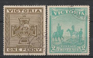 VICTORIA : 1900 Boer War Fund set 1d & 2d. SG 374-5 cat £350.