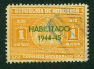 Honduras 1944 # 342 U SCV(2014) = $0.30