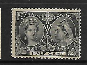 CANADA, 50, MINT HINGED, CREASED, QUEEN VICTORIA 1837