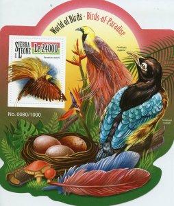 Sierra Leone MNH S/S Greater Birds Of Paradise 2015