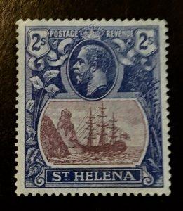 St. Helena Scott 89 KGV Definitive Two Schilling -Mint